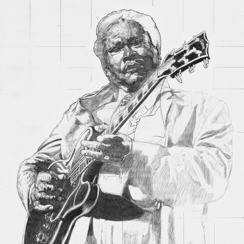 B.B. King by mravey